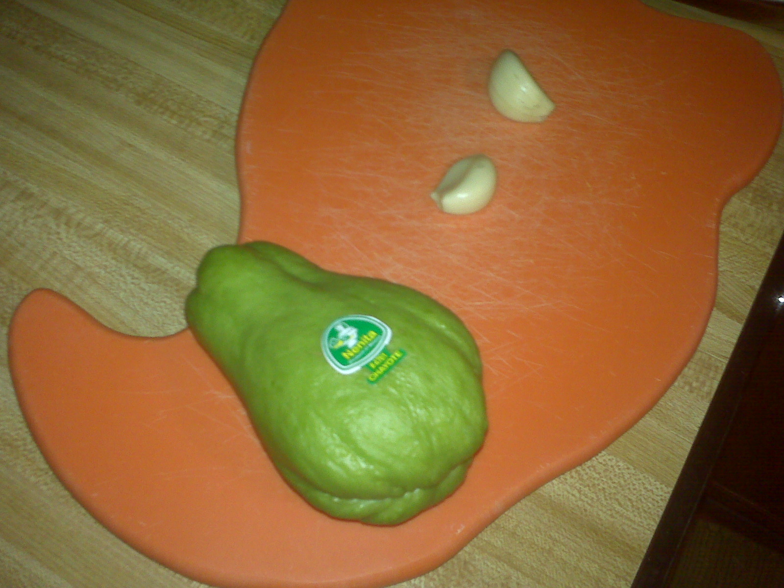 how to cut chayote squash